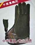 [左手长款 ] 进口A级荷兰袋鼠皮鹰隼手套 适合 苍鹰 游隼 猎隼等大中型鹰隼